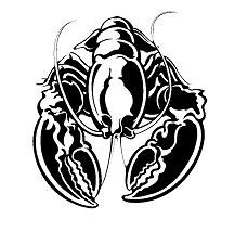 BLACK & WHITE LOBSTER LOGO ART 25 PERCENT.jpg